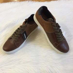 Express Brown Lace Up Sneakers.